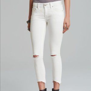 Free People | White Distressed Skinny Jeans 27